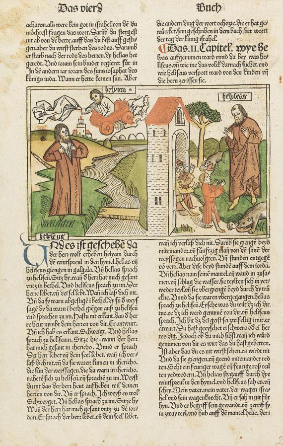 Inkunabel-sammlung - Inkunabelblatt-Sammlung. 70 Bll. in 3 Ringbüchern.