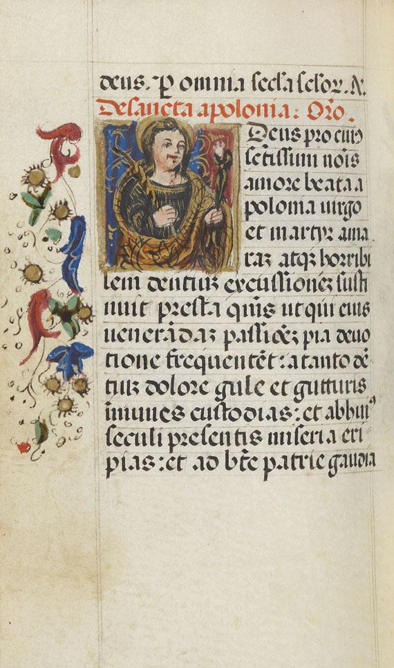 Manuskripte - Heures a l'usage de Rome. Manuskript auf Pergament - Weitere Abbildung