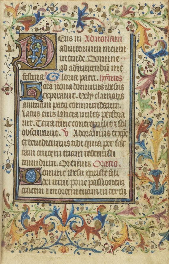Manuskripte - Heures a l'usage de Rome. Manuskript auf Pergament