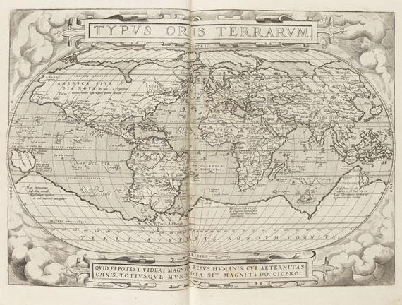 Abraham Ortelius - Theatrum orbis terrarum, latein. Ausgabe 1574.