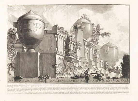 Giovanni Battista Piranesi - 18 Bll. Urnen, Reliefs, Architektur, Steintafeln etc.