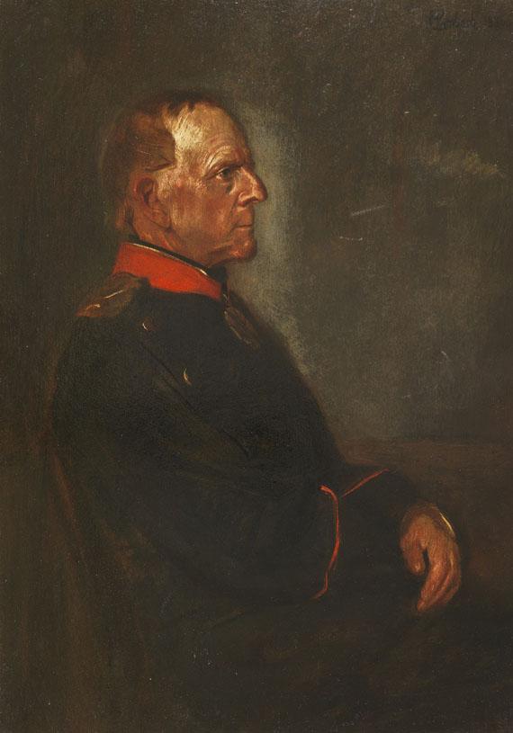 Franz von Lenbach - Porträt Helmut Graf von Moltke