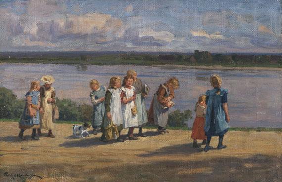 Friedrich Kallmorgen - Die Schule ist aus