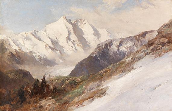 Edward Theodore Compton - Blick auf die Nordseite des Großglockners