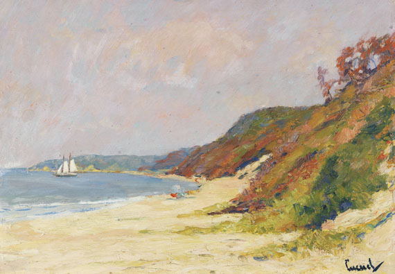 Edward Cucuel - The Beach at Rocky Point, Long Island