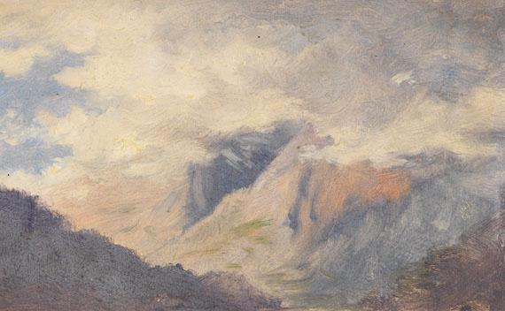 Deutschland - 2 Bll.: Wolkenstudien im Gebirge