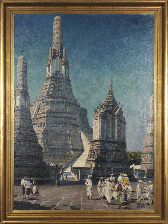 Erich Kips - Wat Arun, der Tempel der Morgenröte in Bangkok, Thailand - Frame image