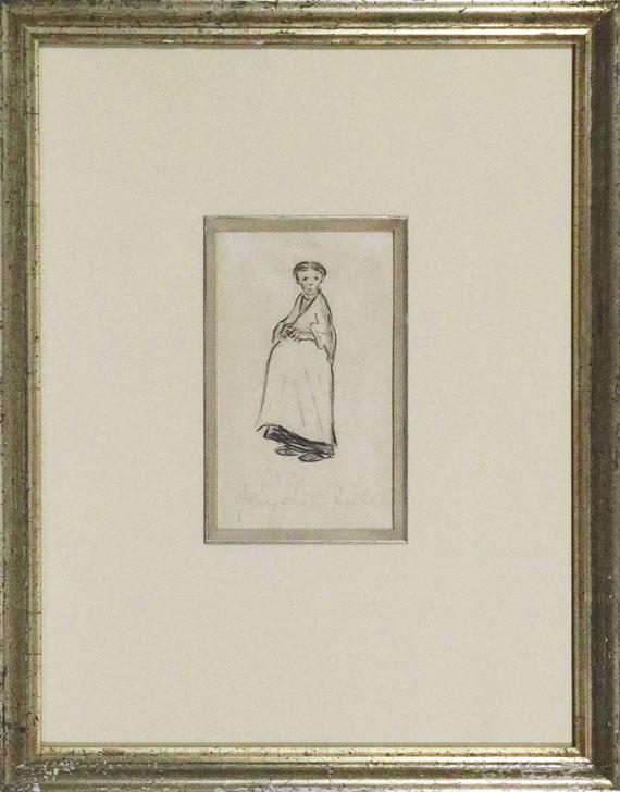 Heinrich Zille - Schwangere - Rahmenbild