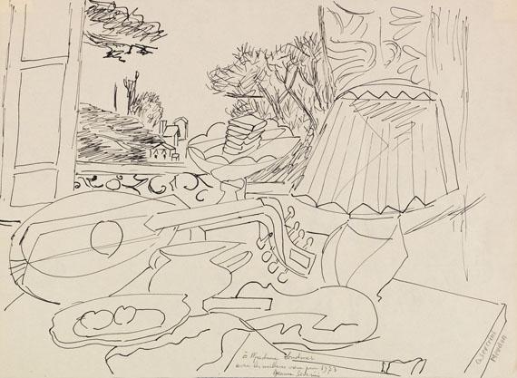 Gino Severini - Composition (Studie zu Le luth, fenêtre sur Meudon)