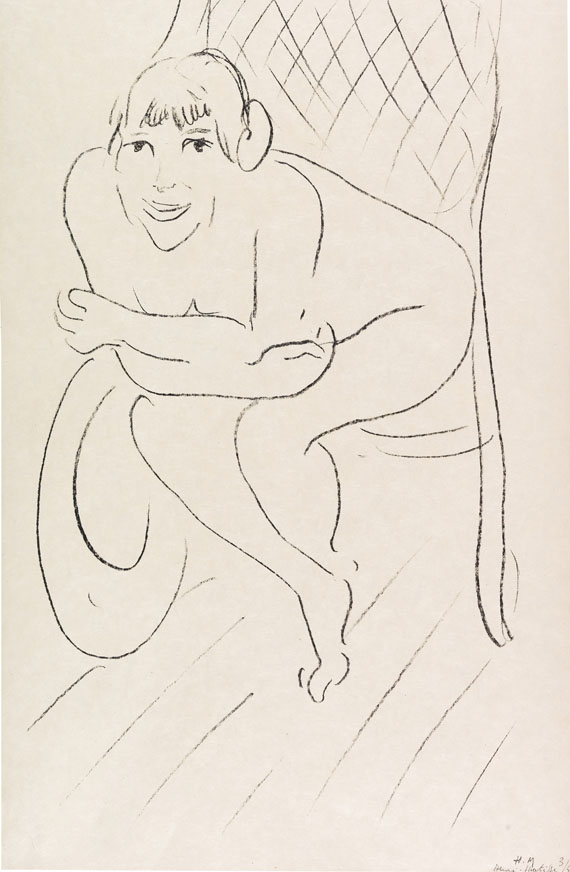 Henri Matisse - Nu au rocking chair