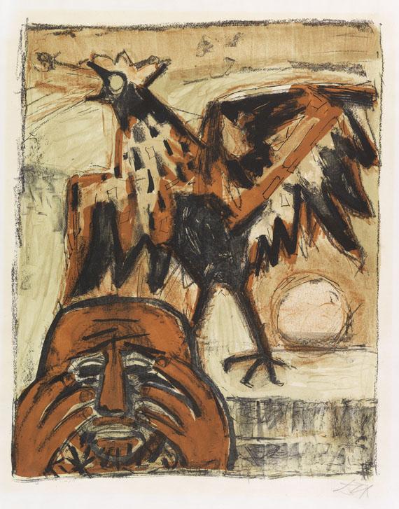 Otto Dix - Petrus mit Hahn