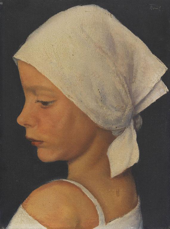Bruno Breil - Mädchen mit Kopftuch