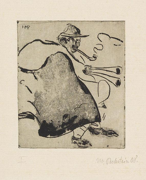 Hermann Max Pechstein - Dudelsackbläser