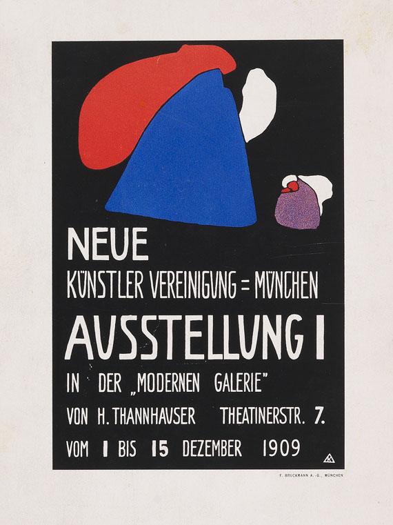 """Wassily Kandinsky - Kleines Plakat für die erste Ausstellung der """"Neuen Künstler-Vereinigung München"""""""