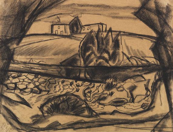 Otto Dix - Gehöft am Fluss II