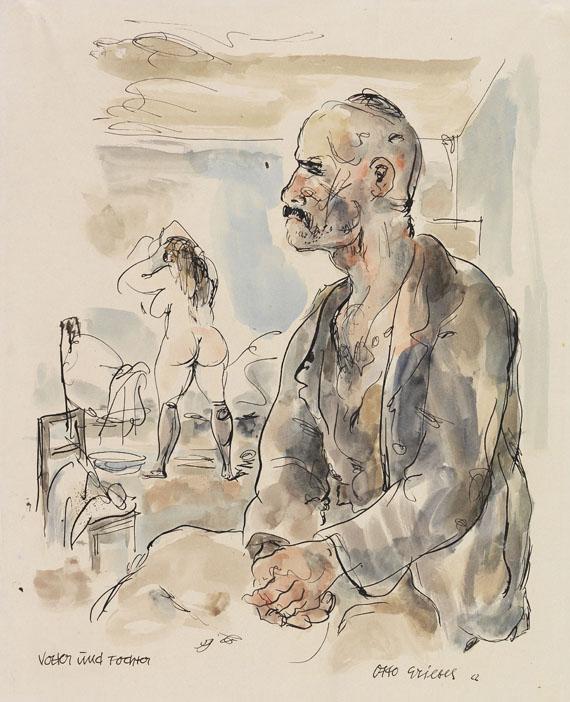 Otto Griebel - Vater und Tochter