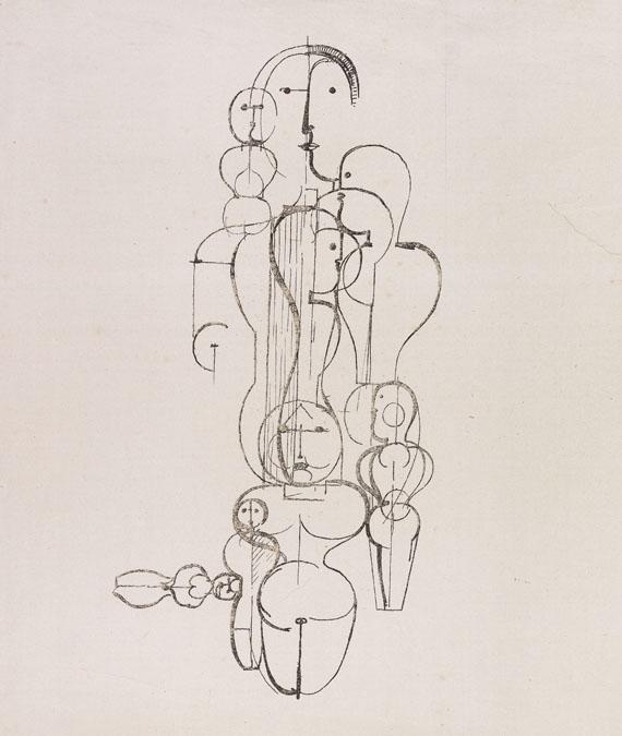 Oskar Schlemmer - Konzentrische Gruppe (Figurenplan K1)