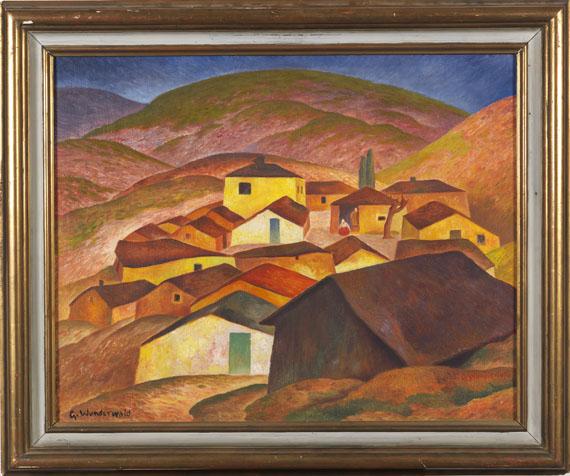 Gustav Wunderwald - Gebirgsdorf in Mazedonien - Frame image