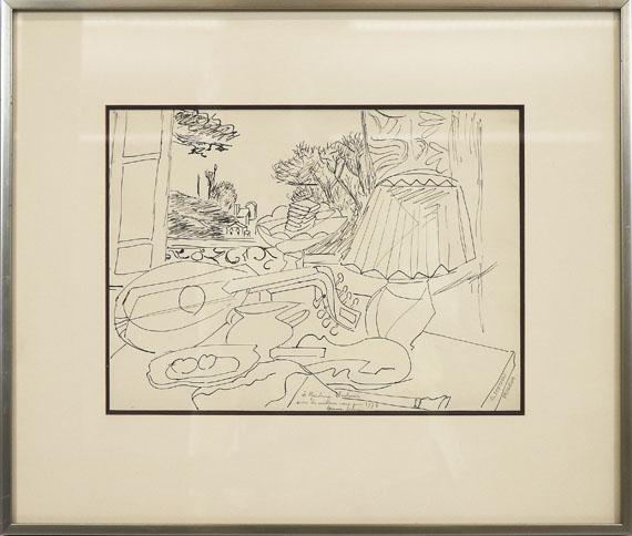 Gino Severini - Composition (Studie zu Le luth, fenêtre sur Meudon) - Frame image