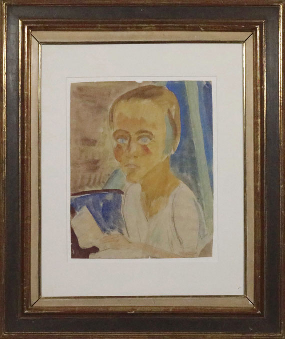 Erich Heckel - Portrait Siddi Heckel - Frame image