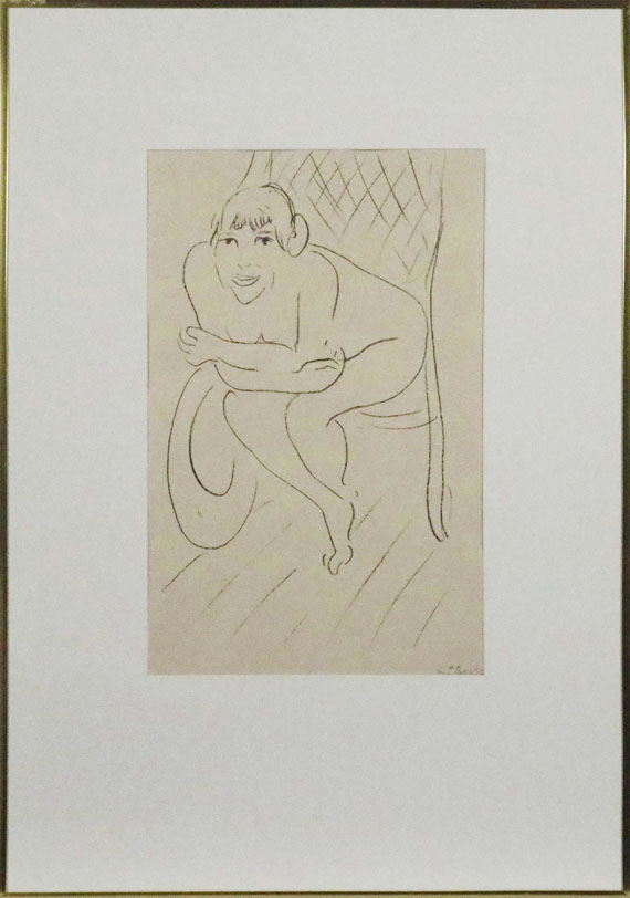 Henri Matisse - Nu au rocking chair - Frame image