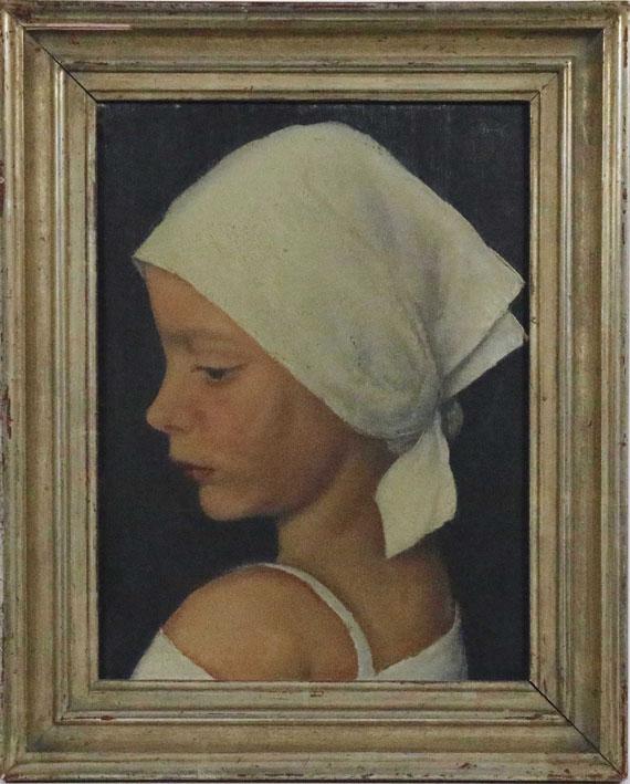 Bruno Breil - Mädchen mit Kopftuch - Frame image
