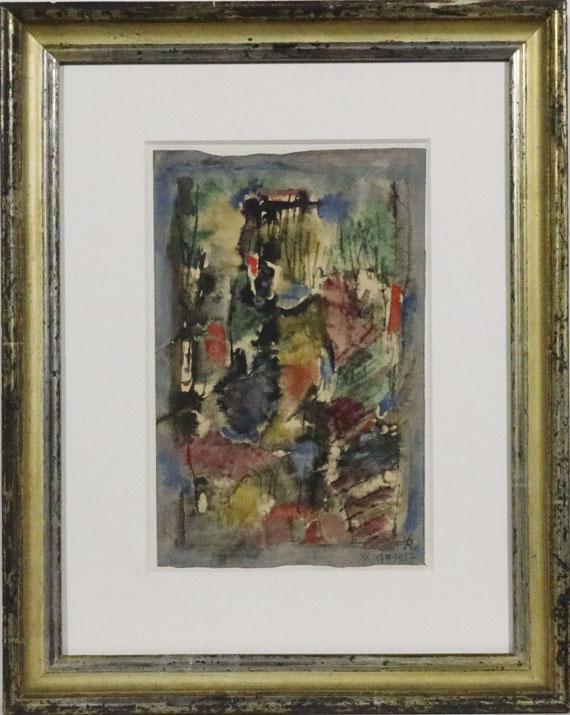 Hans Reichel - Komposition Schwarz-weiß-gelb - Frame image