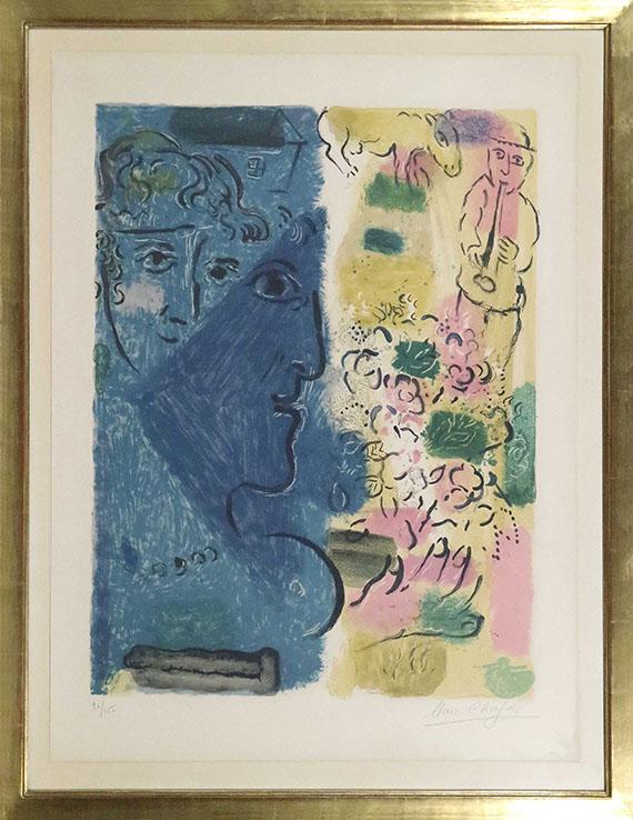 Marc Chagall - Le profil bleu - Frame image