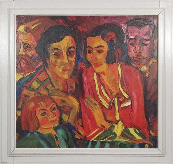 Peter August Böckstiegel - Selbstporträt mit Familie und Ehepaar Ruck - Frame image