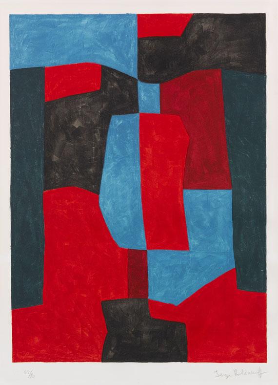 Serge Poliakoff - Composition rouge, verte et bleue