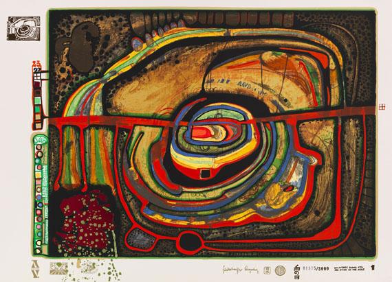 Friedensreich Hundertwasser - Regentag - Weitere Abbildung