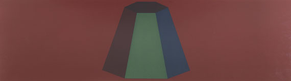 Sol LeWitt - Flat Top Pyramid with Colors Superimposed