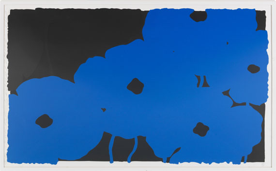 Donald Sultan - Blues and Blacks - Frame image