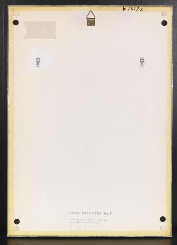 Jim Dine - Four Palettes - Back side