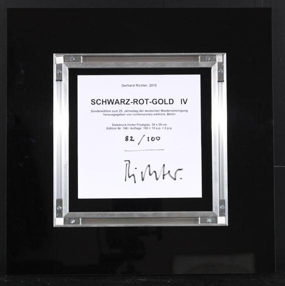 Gerhard Richter - Schwarz-Rot-Gold IV - Back side