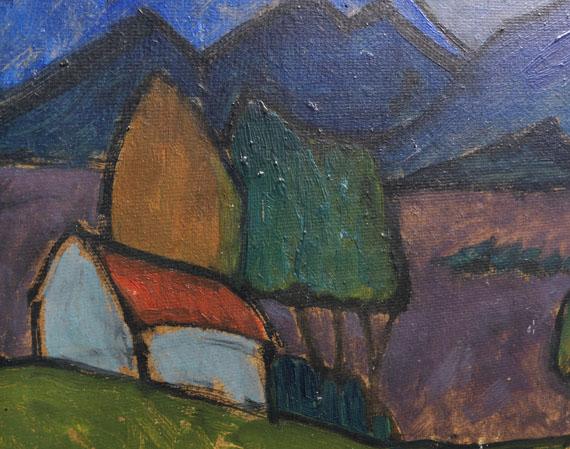 Gabriele Münter - Berglandschaft mit Haus -