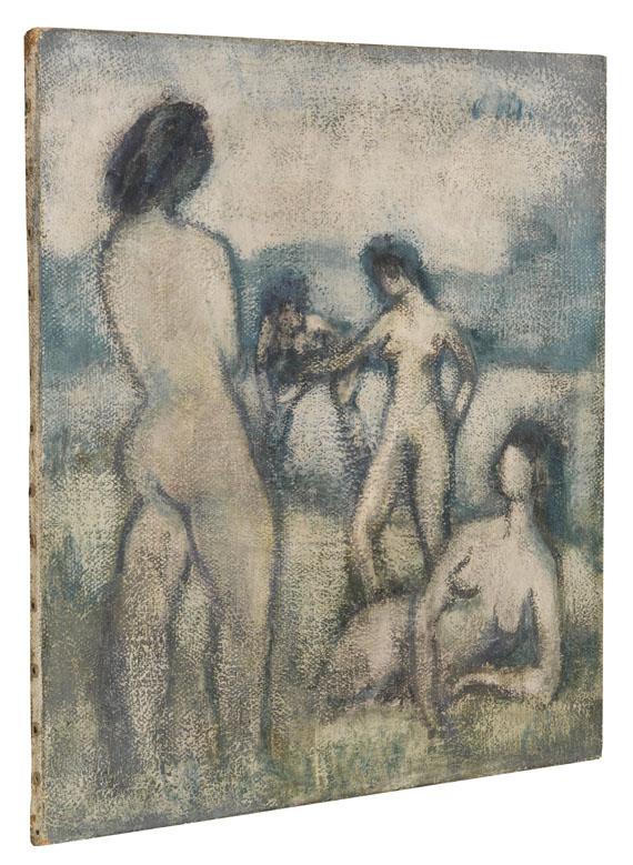 Otto Mueller - Vier Badende (Stehende und liegende weibliche Akte, Badende, Vier lebensgroße Akte auf der Wiese) - Weitere Abbildung