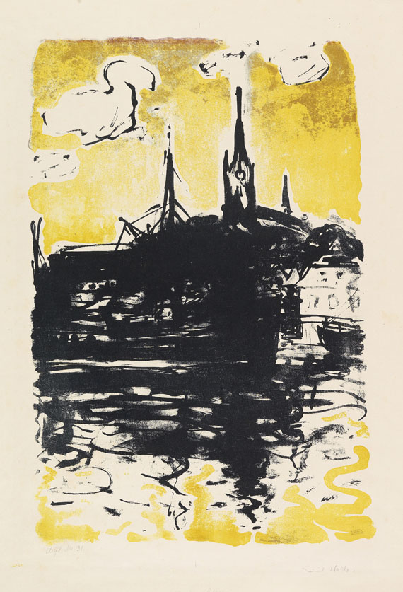 Emil Nolde - Kirche und Schiff, Sonderburg