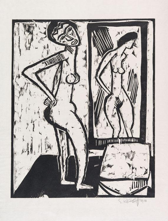 Karl Schmidt-Rottluff - Mädchen vor dem Spiegel