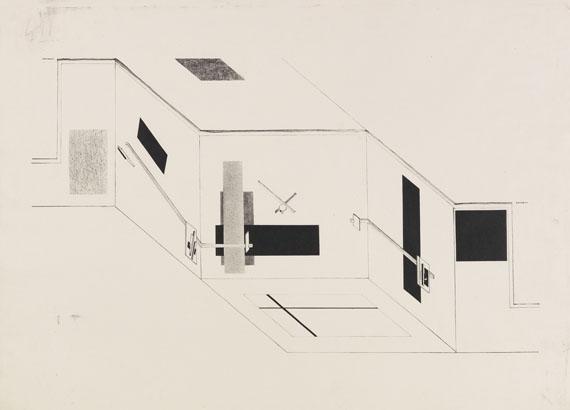 El Lissitzky - Der Prounenraum - Blatt 5 der I. Kestnermappe, Proun