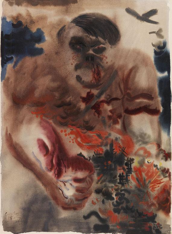 George Grosz - Die Bedrohung (The Menace)