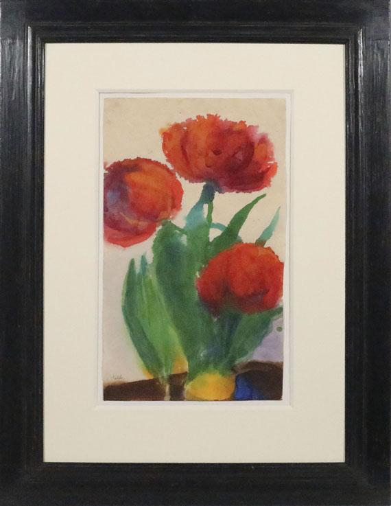 Emil Nolde - Drei rote Tulpen - Rahmenbild