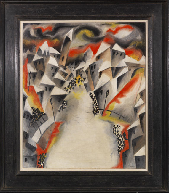 Heinrich Maria Davringhausen - Krieg - Rahmenbild