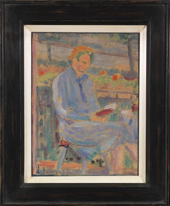 Alexej von Jawlensky - Lesende Frau (Bildnis Frau Toni Kirchhoff sitzend auf dem Balkon) - Frame image