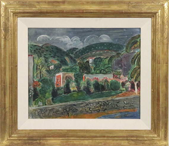 Hans Purrmann - Hügellandschaft auf Ischia - Frame image