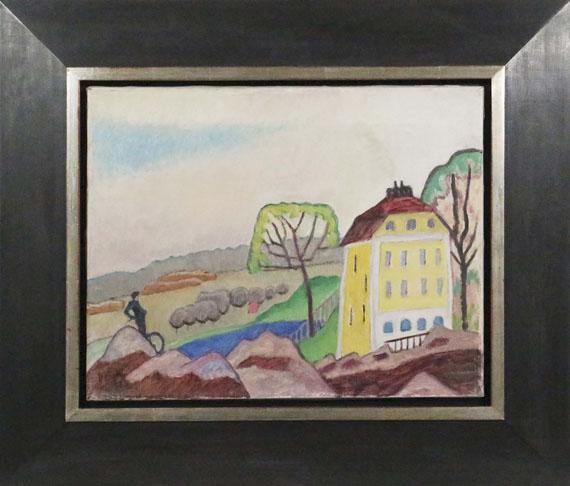 Gabriele Münter - Landschaft mit gelbem Haus - Frame image
