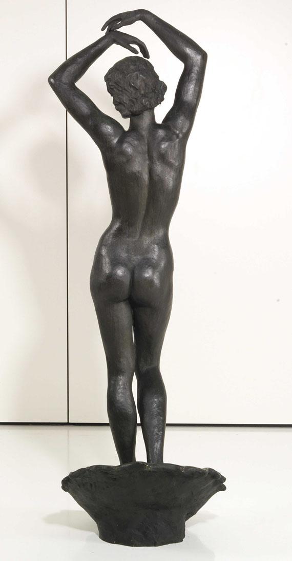 Fritz Klimsch - Nereide auf der Muschel - Rückseite