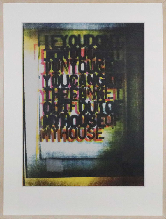 Christopher Wool - My House I - Frame image