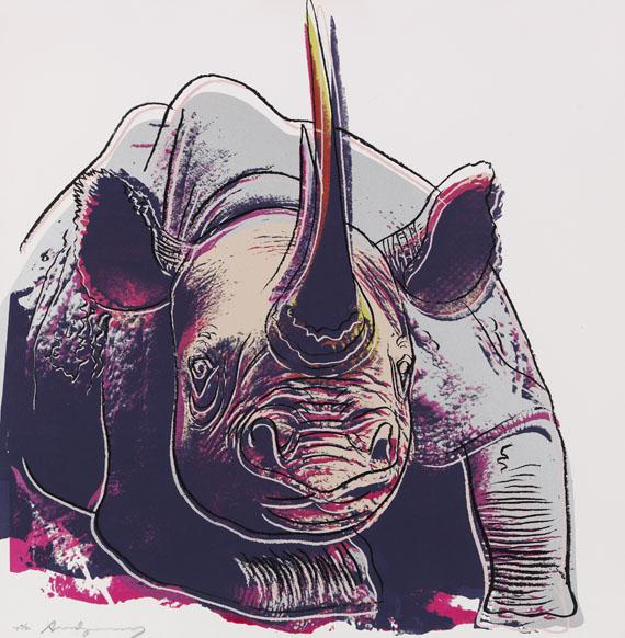 Andy Warhol - Rhinoceros (Endangered Species)