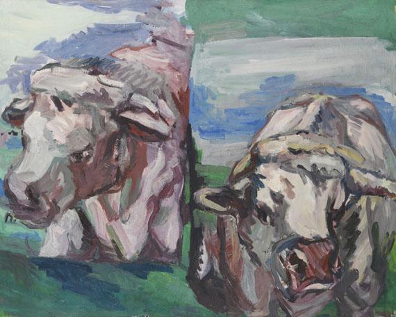 Georg Baselitz - Zwei halbe Kühe